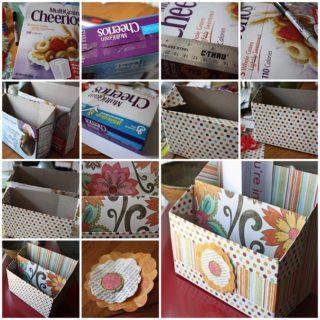 Wonderful DIY Organizer from cereal box