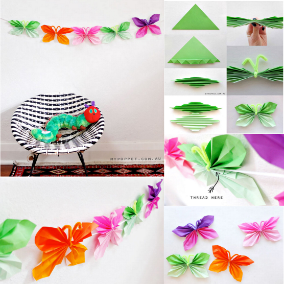 origami butterfly Wonderful DIY  Super Easy Folded Paper Butterflies
