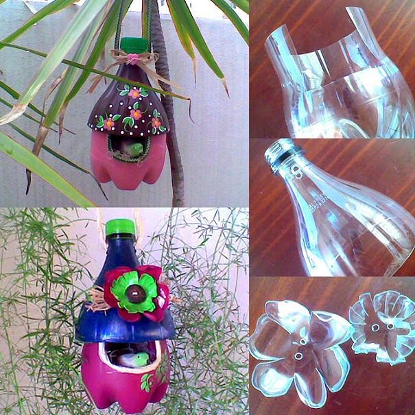 Wonderful Diy Bird House From Recycled Bottles