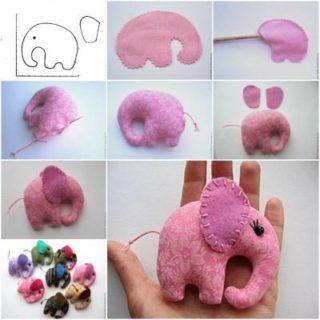 Wonderful DIY Fabric Pocket Elephant