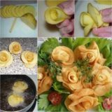 Woderful DIY Fry Potato roses