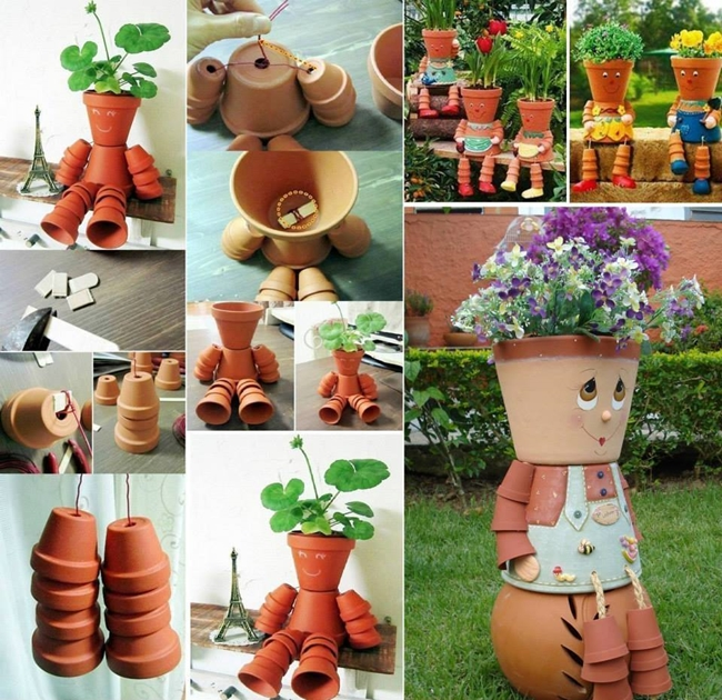 pots 1 Easy to Make Clay Flowerpot People, Bring Life to Your Garden