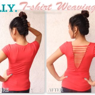 Wonderful DIY Refashion Old T-shirt
