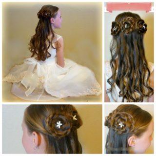 Wonderful  DIY Rosette Braids hairstyle