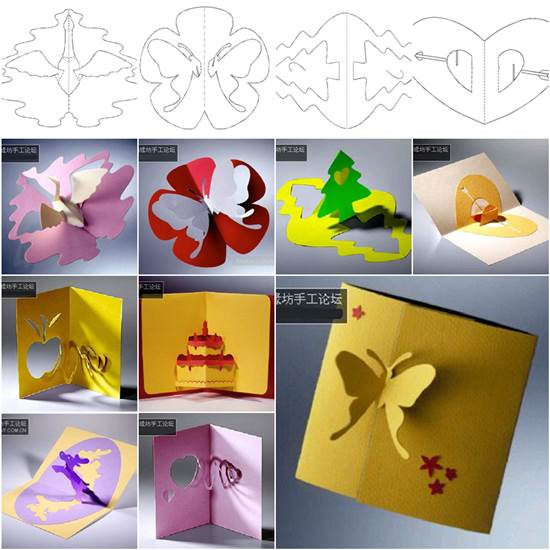 3D Kirigami Greeting Cards with TemplatesF Stunning 3D Kirigami Cards with 18 Free Templates