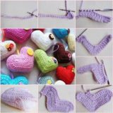 Wonderful DIY Crochet 3D Stuffed Heart