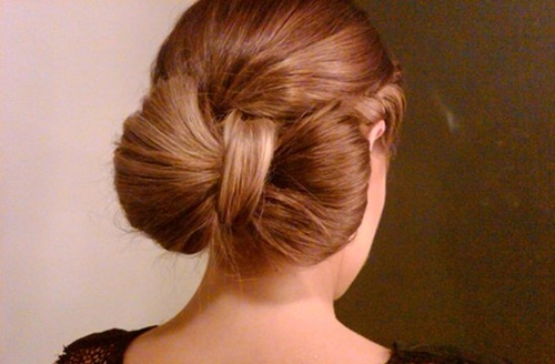Wonderful Super Easy Bow Bun For Short Hair Style