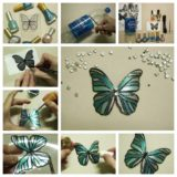 Kids Projects: Beautiful Butterflies Made with Recycled Plastic Bottles