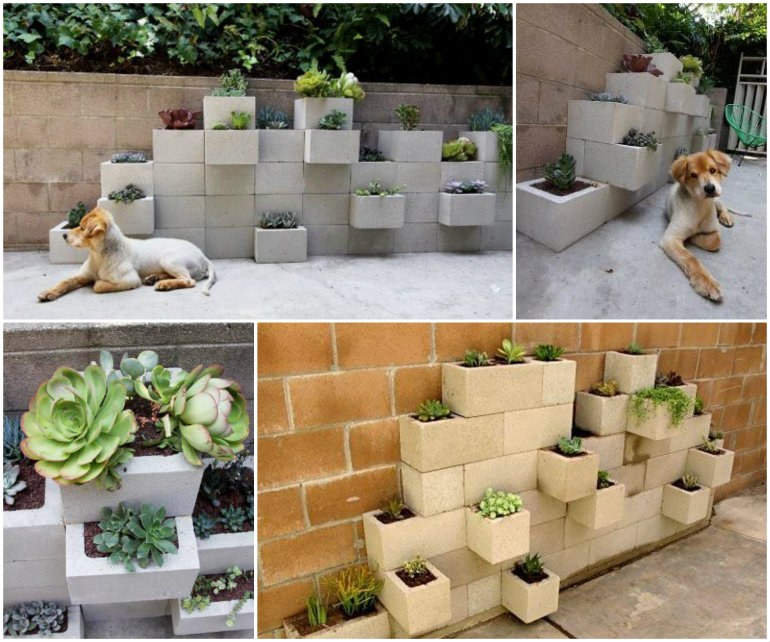 Cinder Block Garden Planter-wonderfuldiy