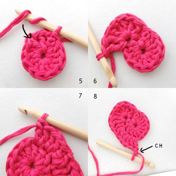 Crochet Heart Shaped Storage Baskets13