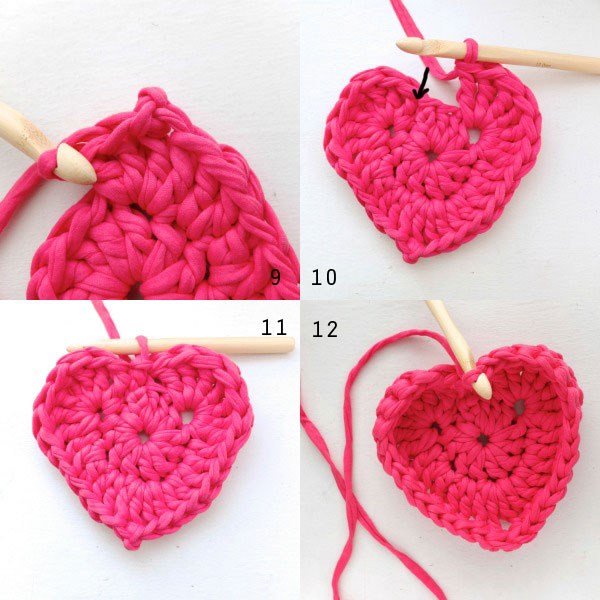 Crochet Heart Shaped Storage Baskets14