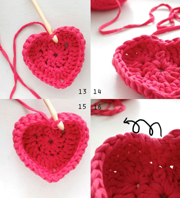 Crochet Heart Shaped Storage Baskets15