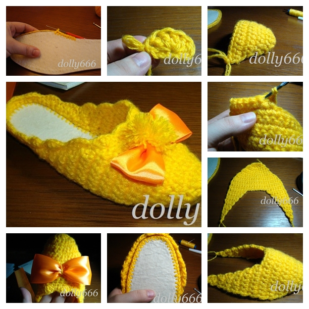 Crochet Home Slippers F Wonderful DIY Pretty Crochet Slippers
