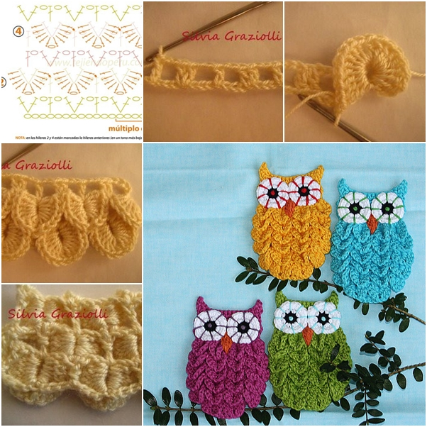 Crochet Owl Wonderful DIY Cute Crochet  Crocodile Stitch Owls