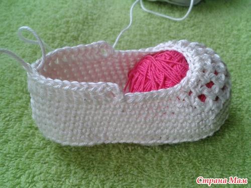 Crochet ribbon tie Baby Shoes12