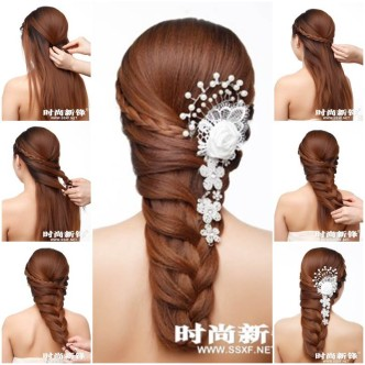 DIY Asymmetrical Braided Hairstyle 1 332x332 Wonderful DIY Personalized Braided Hairstyle