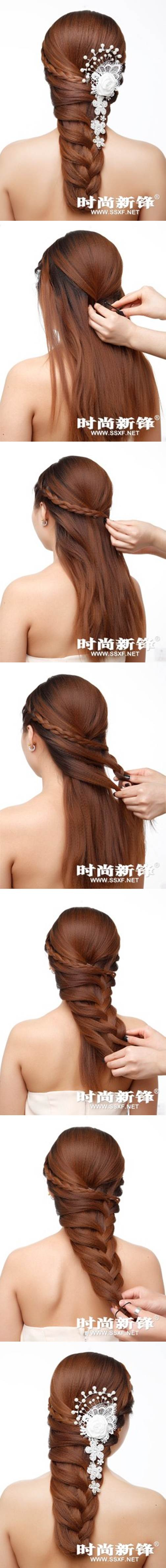 DIY Asymmetrical Braided Hairstyle 2 Wonderful DIY Personalized Braided Hairstyle