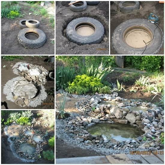 DIY Garden Ponds from Old Tires Wonderful DIY Garden Ponds from Old Tires