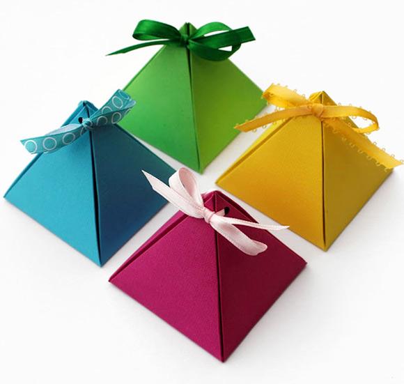 DIY Gift Box 0 Wonderful DIY Pyramid  Gift Box