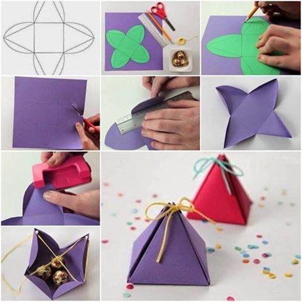 Wonderful DIY Pyramid Gift Box