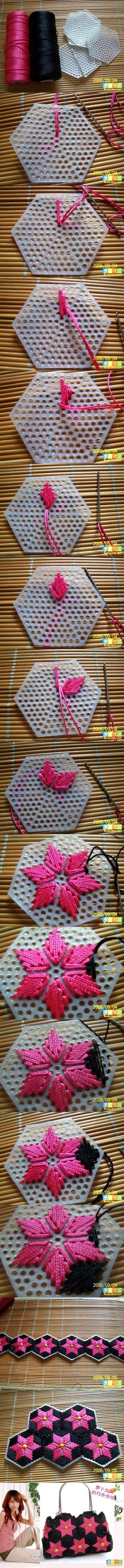 DIY Pretty Handbag from Stitch Plastic Canvas 2 Wonderful DIY Pretty Handbag from Stitch
