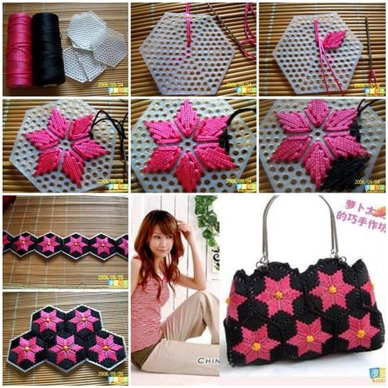 DIY Pretty Handbag from Stitch Plastic Canvas 3 Wonderful DIY Pretty Handbag from Stitch