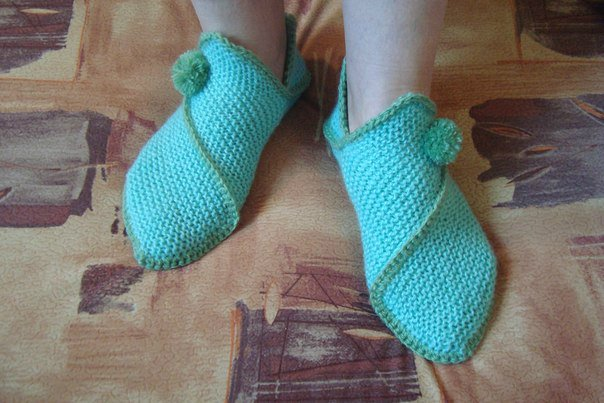 DIY Pretty Knitted Home Slippers 1 Wonderful DIY  Knitted Home Slippers