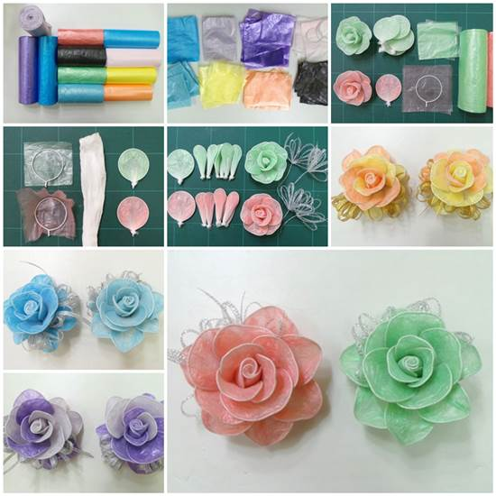 DIY-Roses-from-Plastic-Garbage-Bag