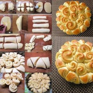 Wonderful DIY Flower Wreath Bread