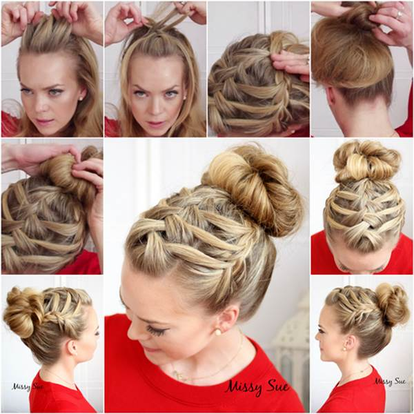 Double Waterfall Triple French Braid Hairstyle Wonderful DIY Double Waterfall Triple French Braid Hairstyle