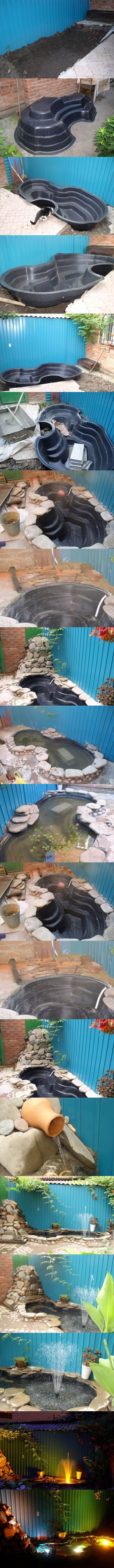 Easy Pond in Backyard 2 Wonderful DIY Amazing Garden Fish Pond