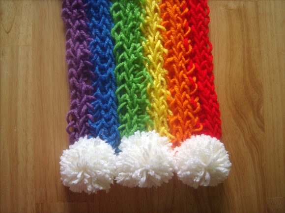 Finger-Knitted Scarf9-9