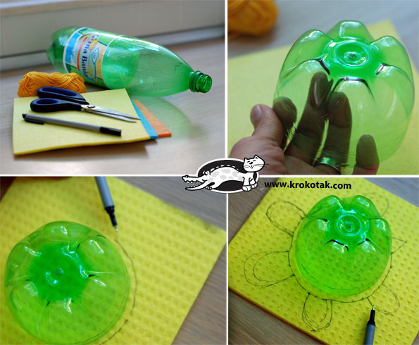 Floating Turtle 1 Wonderful DIY Floating Turtle Family From Bottle/Cap