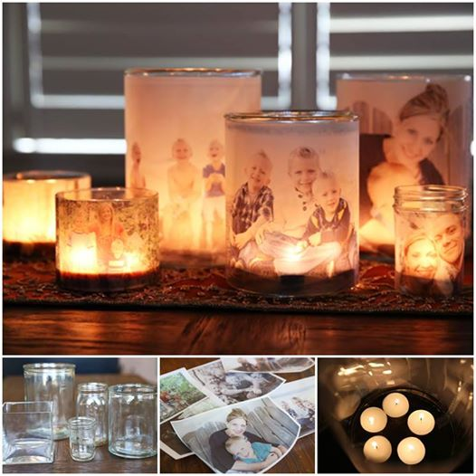 Glowing photo luminaries Wonderful DIY Glowing Photo Luminaries