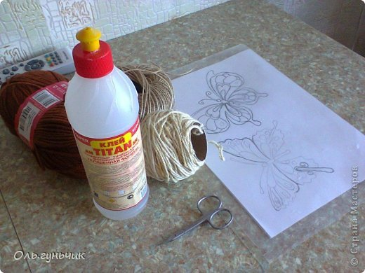 How to Make Beautiful Filigree Butterfly with Yarn 1 Wonderful DIY Beautiful Yarn Filigree Butterfly