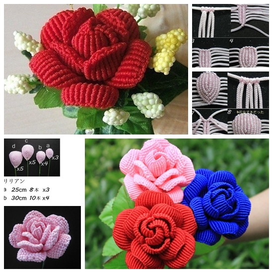 How to Weave Beautiful Rose in the Art of Macrame F Wonderful DIY Beautiful Macrame  Rose