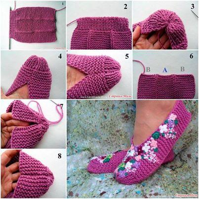 Wonderful Diy Knit Pretty Slippers