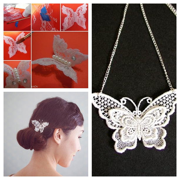 Lace Butterfly F Wonderful DIY Pretty Lace Butterfly