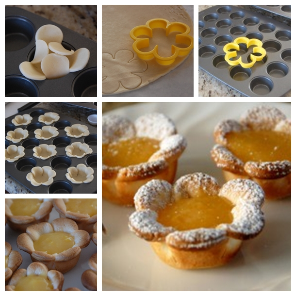 Lemon Flower Curd Tarts F