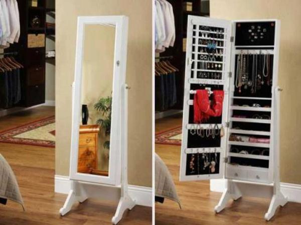 Wonderful Stylish Jewelry Armoire Cheval Mirror