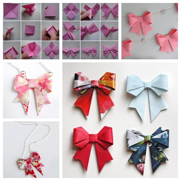 Origami Paper Bow F1  Wonderful DIY Origami Paper Bow