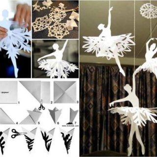 Pretty DIY Paper Snowflake Ballerinas for Cute Little Girls