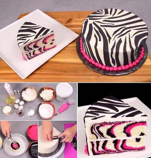 wonderful diy pretty zebra cake - Christmas Zebra Decorations