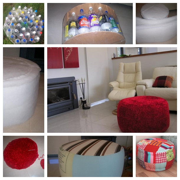Plastic Bottles Ottoman F Wonderful DIY Ottoman Out of Plastic  Bottles