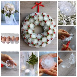 Wonderful DIY Amazing Flowers from Egg Box