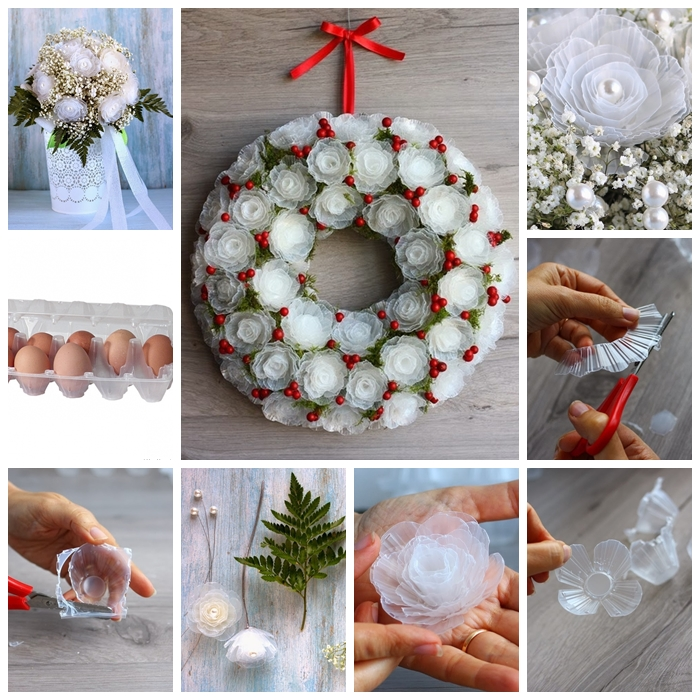 Plastic flower bouquet from egg box F Wonderful DIY Amazing Flowers from Egg Box
