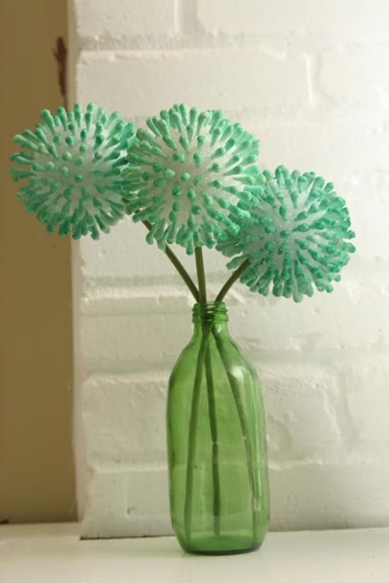 Q-tips flowers8