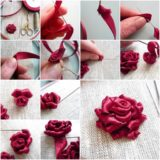 DIY Ribbon Roses That Look Delicate and Pretty