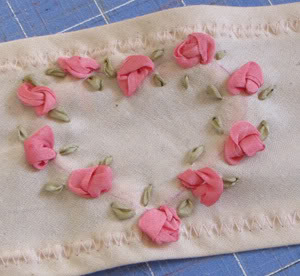 Romantic Silk ribbon embroidery Roses6