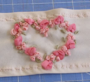 Romantic Silk ribbon embroidery Roses7
